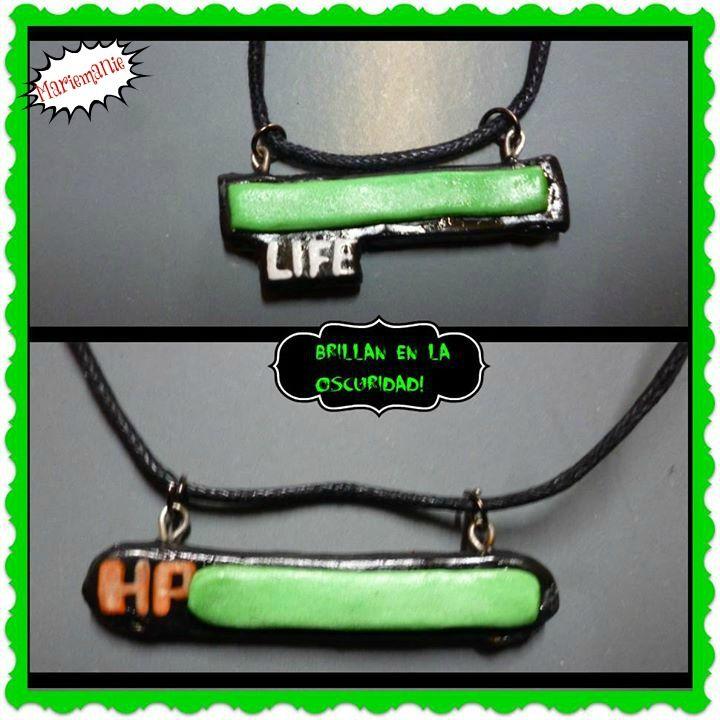 Collar LIFE o HP, brillan en la oscuridad