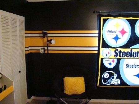 Best Pittsburgh Steelers Rooms Wo Man Caves Images On - Boys room paint ideas stripes sports