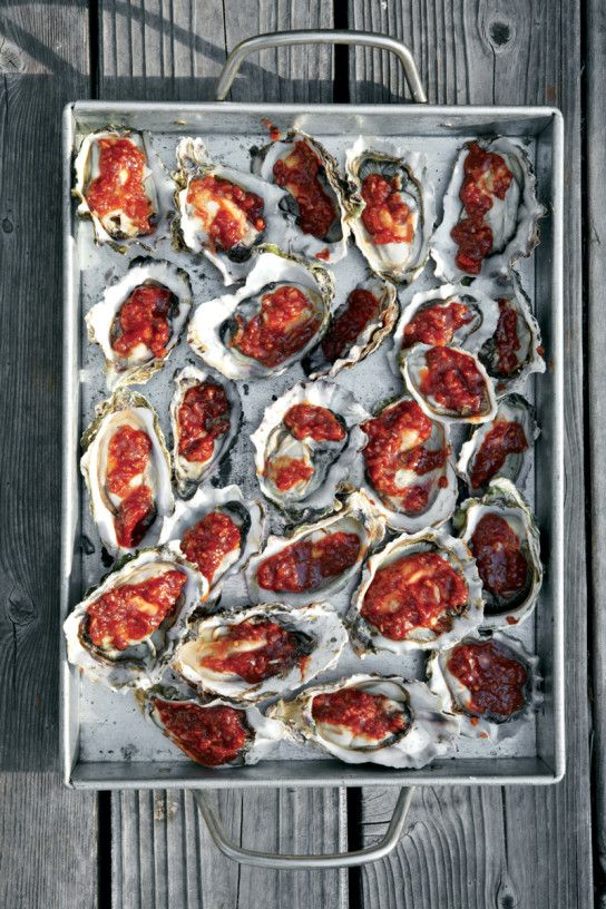 Barbecued Oysters. Sweet-tangy barbecue sauce is the perfect contrast to briny oysters.