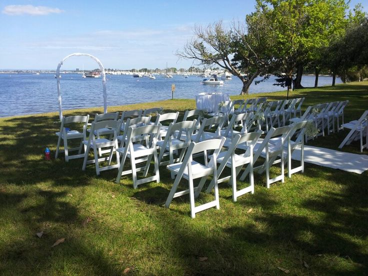 Matilda bay reserve wedding ceremony overlooking the swan river.