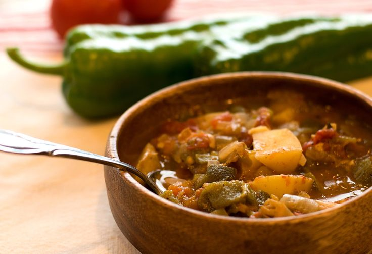 This Vegan Green Chile Stew is so rich and flavorful - it truly captures the heart of New Mexico. Fresh Hatch Green Chiles really make this dish pop.