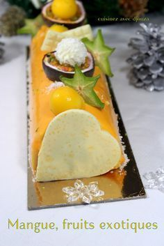 Buche de noel mousse fruit exotique