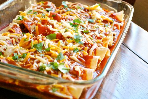Delicious Chicken Enchiladas  Serving size would be 2 slices for women and 2 slices for men with the Diet Free Life System. Learn more at www.Mydietfreelife.com