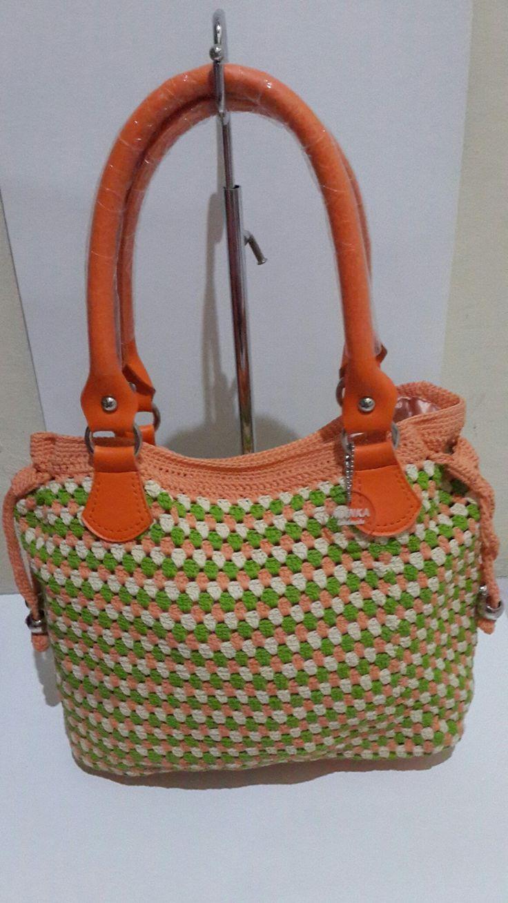Crochet bag orange seger @manka handmade