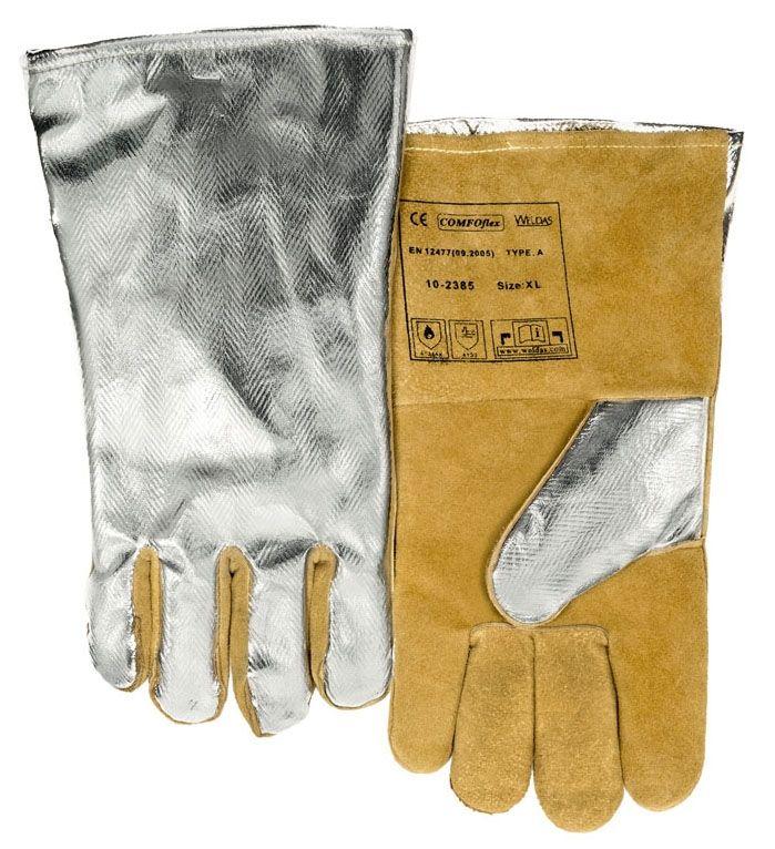 31.15$  Watch here - http://aliam2.shopchina.info/go.php?t=1964603701 - High Heat Resistant Aluminized PFR Rayon Welding Glove TIG MIG Safety Glove Cow Split Leather Work Glove 31.15$ #buyonlinewebsite