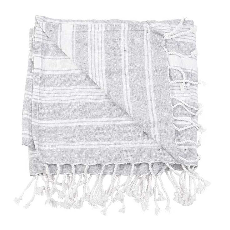 BODY TOWEL - PESTEMAL- GREY - Towels