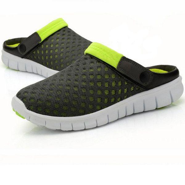 Men Sandals Slipper Comfortable Breathable Slip On Beach Sandals Flats Summer Slipper