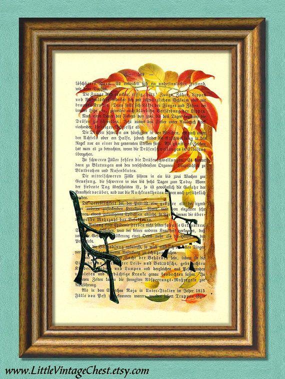 AUTUMN Dictionary Art Print Wall Art  Book by littlevintagechest, $7.99