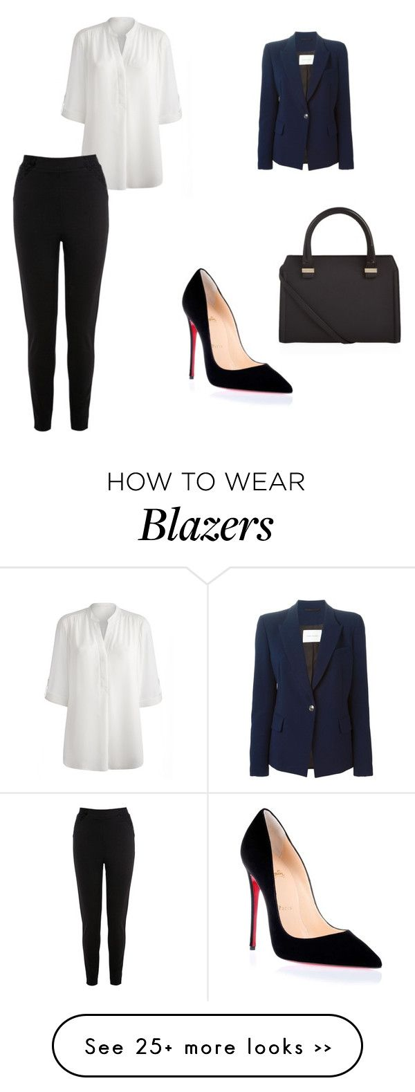 """""""Untitled #8516"""" by andreeascafariu on Polyvore featuring Pierre Balmain, Christian Louboutin and Victoria Beckham"""