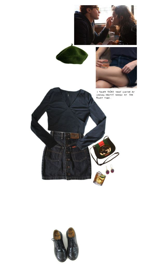 """extract that information"" by damndizzy ❤ liked on Polyvore featuring Dr. Martens, Jamie Joseph and Gucci"