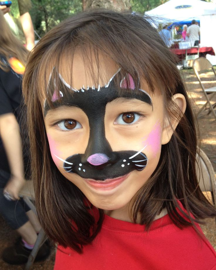 face painting cat - 736×920
