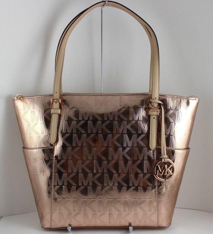 mk bags rose gold