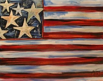 canvas painted flag
