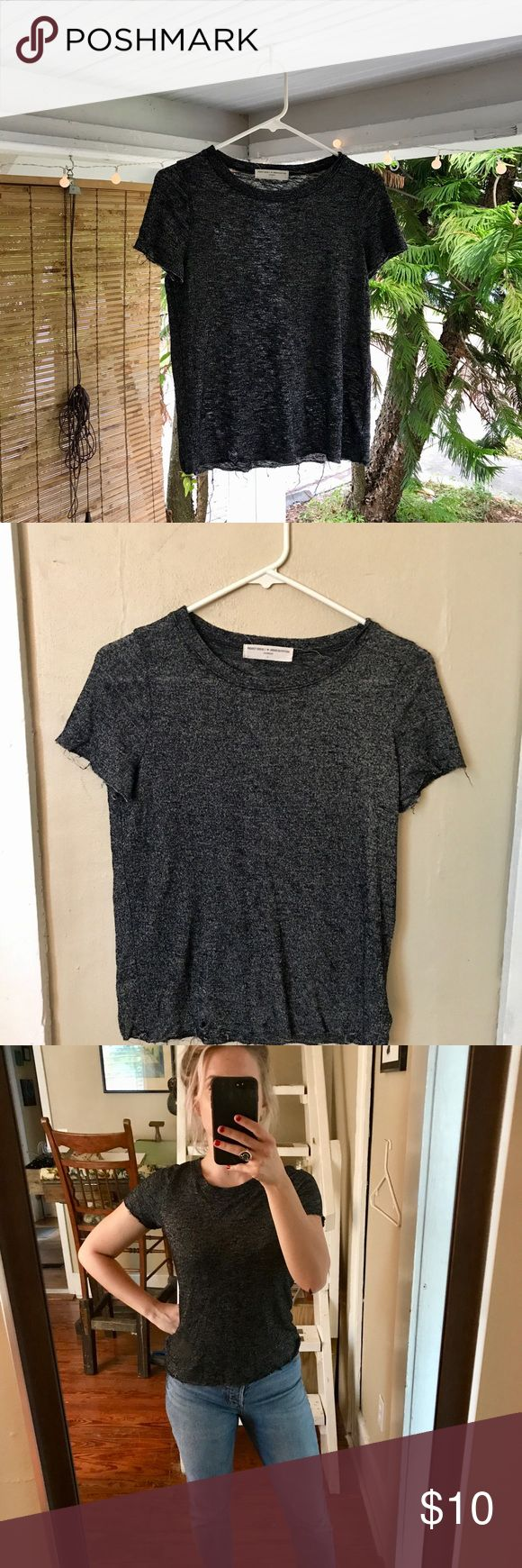 ⚙️Project Social Urbanoutfitters T Shirt ⚙️ This semi sheer, grey/black Project Social tee is the definition of comfort. Perfect for casual house hanging or easily dressed up with black skinny jeans and boots. This brand is an Urban classic and lasts forever! Project Social T Tops Tees - Short Sleeve