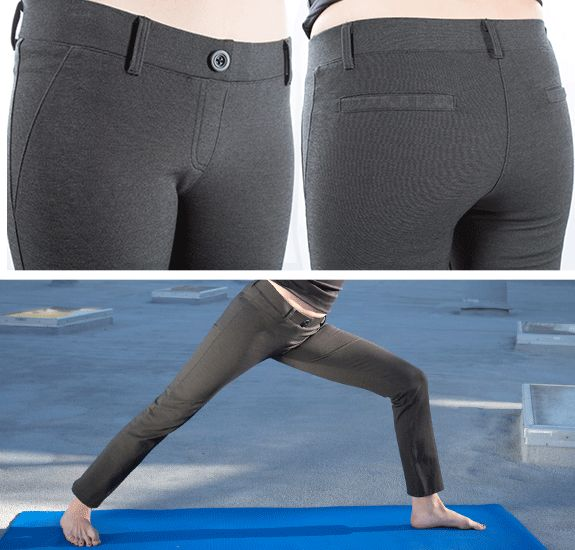 Gray Dress Pant Yoga Pants - Betabrand DRESS YOGA PANTS?!  I would live in these!
