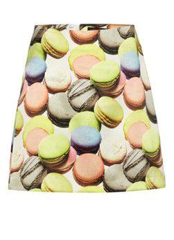 MarcCain Zijden rok met macaron-print