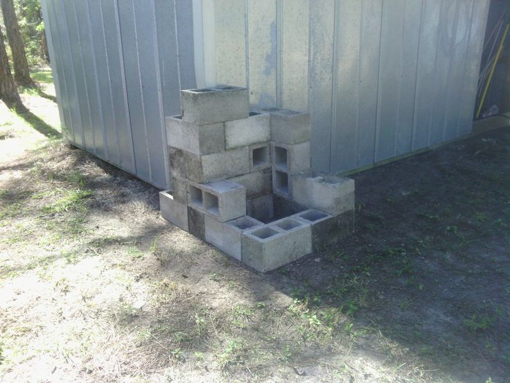 Corner Block Landscaping Ideas : Shed corner block design before any plants were added