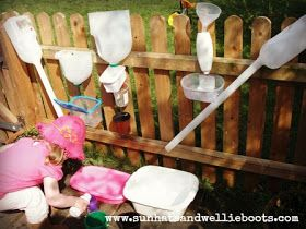 Sun Hats & Wellie Boots: Water Play Construction Area