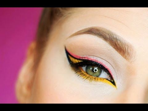 Eyeliner Tutorial rosa, giallo e nero - VideoTrucco