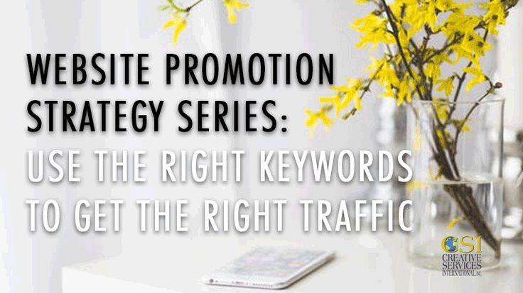 Website-Promotion: Verwenden Sie die richtigen Keywords für den Traffic