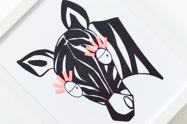 Zebra pépinière Art Nursery décor zèbre imprimé par ShenasiConcept