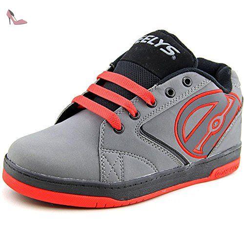 Heelys - Chaussures à roulettes Force - gris foncé/gris clair/orange w3xJOd