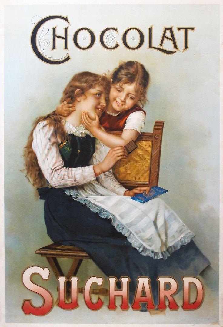 Original Vintage 1900s French Poster Suchard Chocolates Charming Children Lovely | eBay