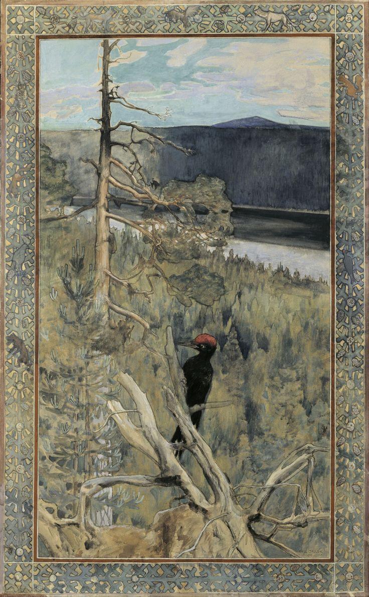 File:Akseli Gallen-Kallela - Great Black Woodpecker