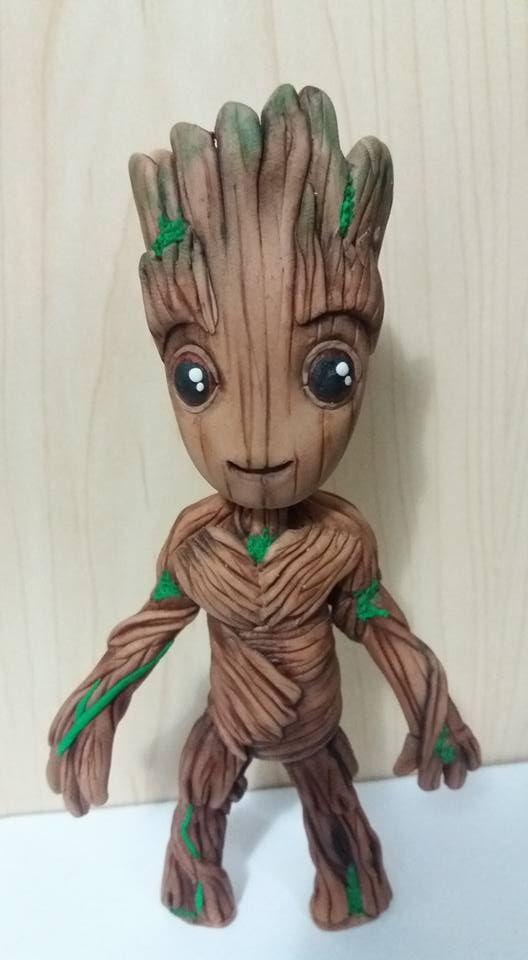 Handmade Baby Groot Cake Topper From Guardian Of The