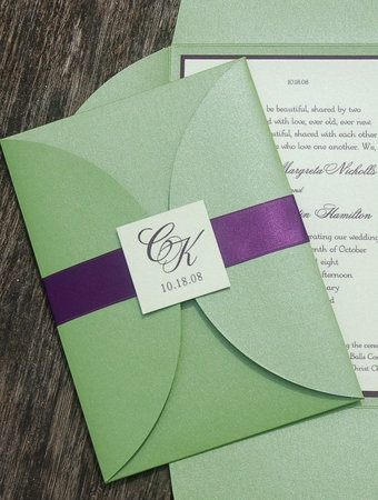 Purple and green invitation   ideas for my wedding in 2018   Pinterest   Wedding, Wedding Invitations and Winter wedding invitations