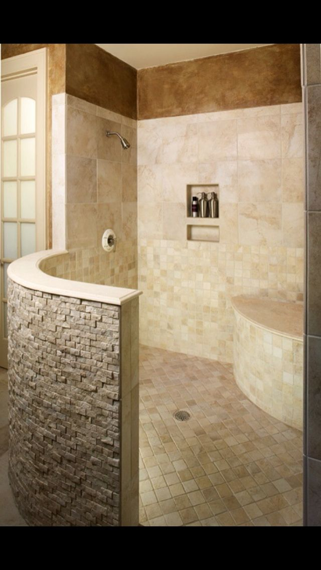 Best Doorless Shower Images On Pinterest Bathroom Ideas