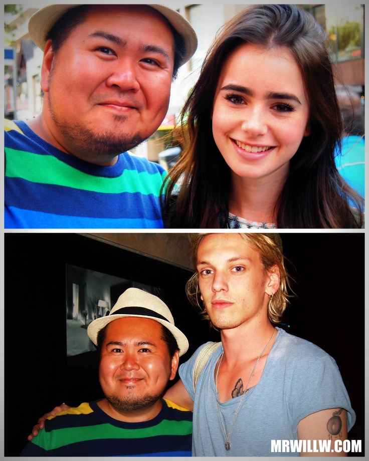 Lily Collins, Jamie Campbell Bower & me.