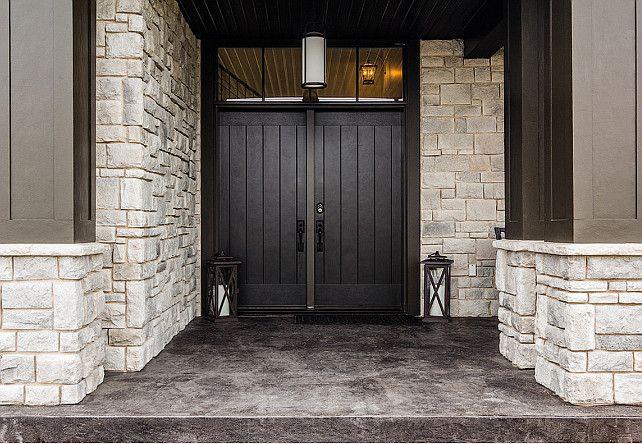 Front Door Decorating Ideas. Transitional home front door.
