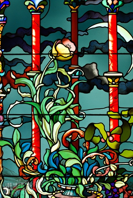 45 best vitrales art nouveau images on pinterest stained. Black Bedroom Furniture Sets. Home Design Ideas