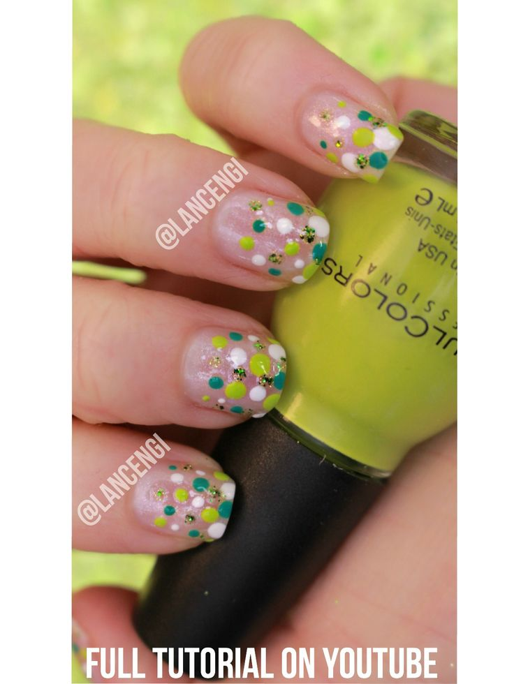 628 best nail inspired images on pinterest painted nail art easy nail art for beginners with short nails green and white dotticure perfect manicure for prinsesfo Images