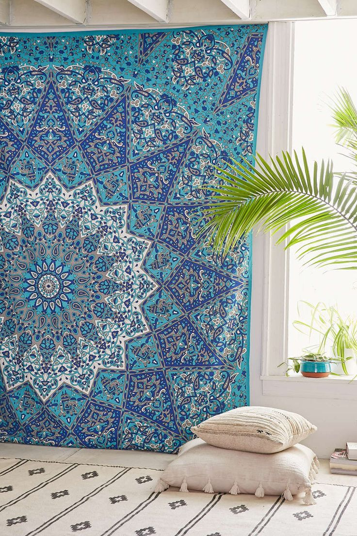 Bohemian Blue Green Wall Tapestry - GoGetGlam