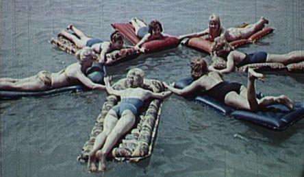 That old summer. Lake Balaton vintage photo.