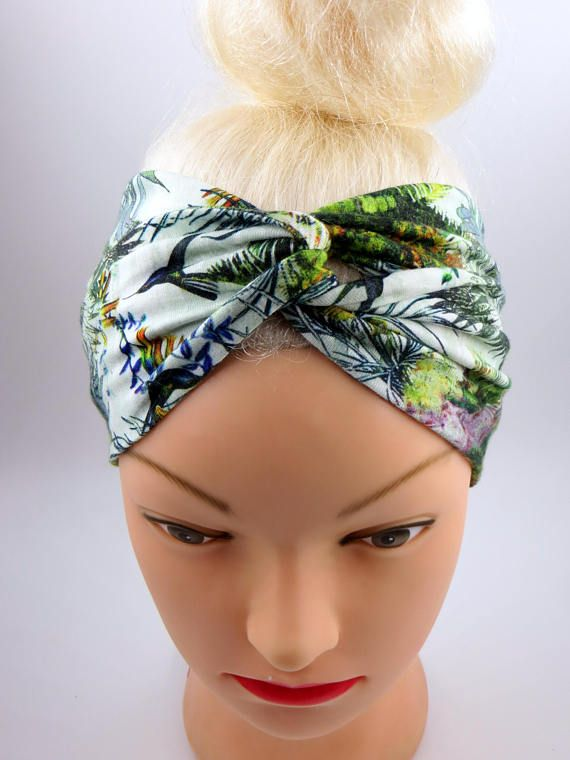 Twisted Headband Turban Headband Tropical print Turband