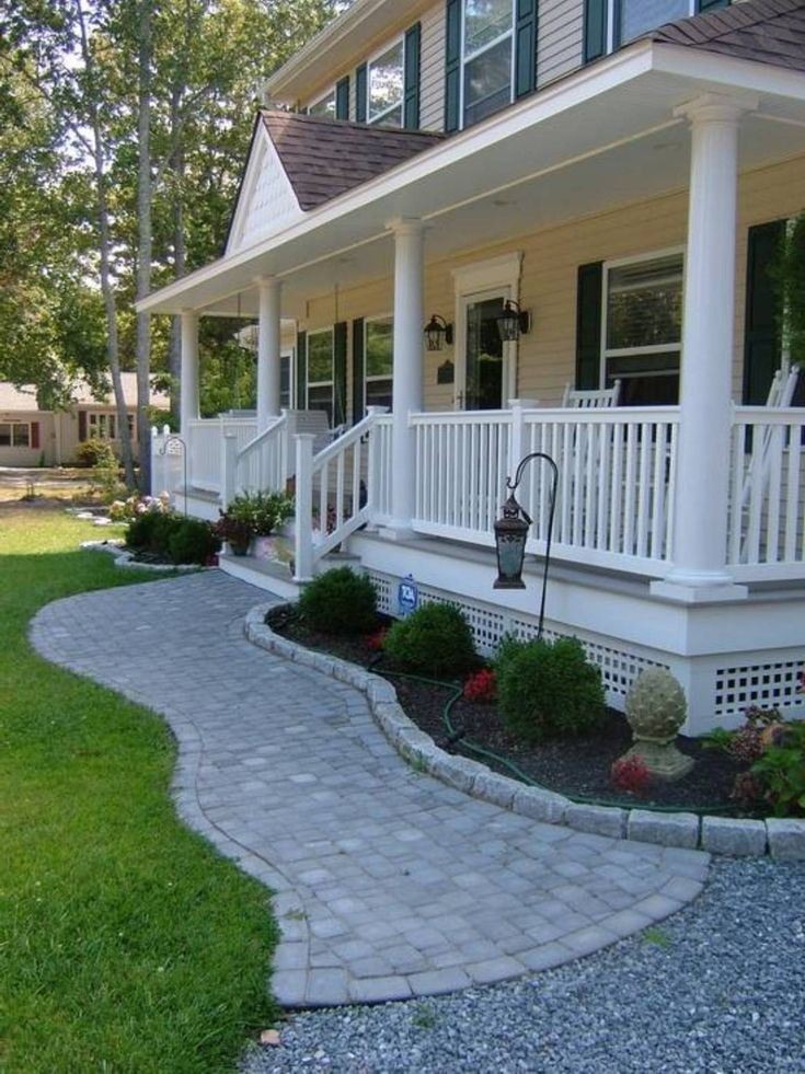 Landscaping and outdoor building home front porch for Porch and patio designs