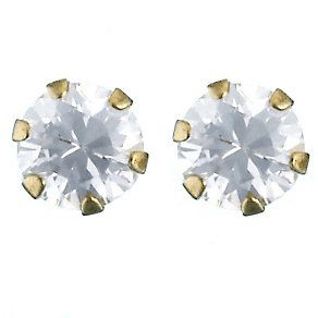 9ct Yellow Gold 3mm Cubic Zirconia Stud Earrings - Product number 2250772