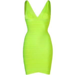 Hervé Léger Herv? L?ger Neon Green Bandage Dress - LoLoBu