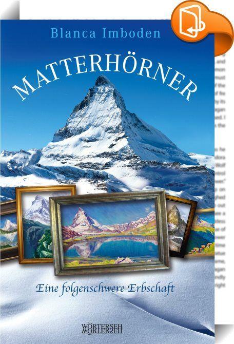 Matterhörner    :  Das Matterhorn ist einzigartig - von daher braucht dieser schöne Berg garantiert keine Mehrzahl. Eigentlich. Aber in Blanca Imbodens neuem Roman vervielfacht sich das Wahrzeichen der Schweiz. Und das hat folgenden Grund: Antonia, eine Innerschweizer Seilbähnlerin, die bei der Morschach-Stoos-Bahn arbeitet, erbt von ihrer Schwester Mona vierzig Matterhorn- Bilder, gezeichnet, gemalt, skizziert, in Öl, Kreide, Acryl. Da die Geschwister jahrelang keinen Kontakt mehr hat...
