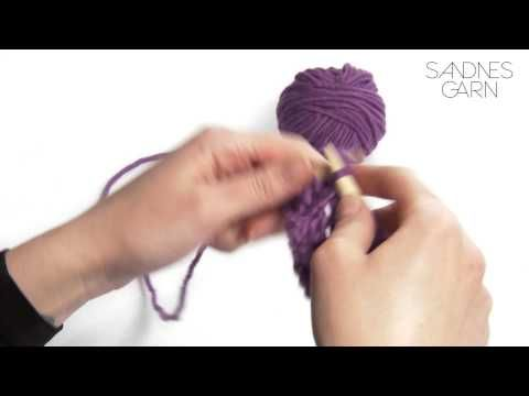 Sandnes Garn - Hvordan strikke vrangbord - YouTube