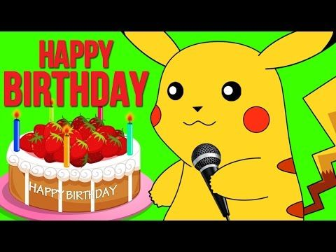Happy Birthday Pokemon And More | Nursery Rhymes Songs For Kids | Pokemon Songs - YouTube