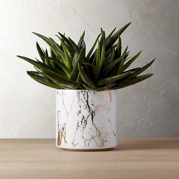 palazzo marbleized planters | CB2