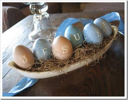 Easter Eggs that spell Jesus