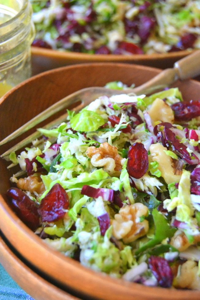 Brussels Sprout Slaw with Maple Cider Vinaigrette - The View from Great Island