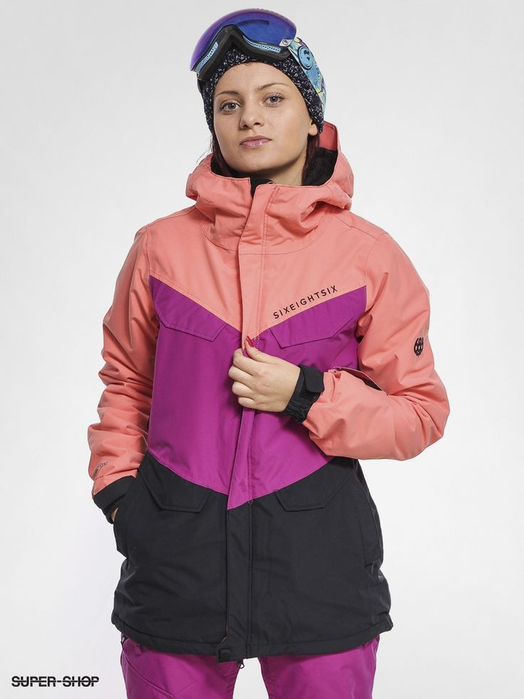 686 Snowboard Jacke Authentic Annex Wmn (coral clrblk)