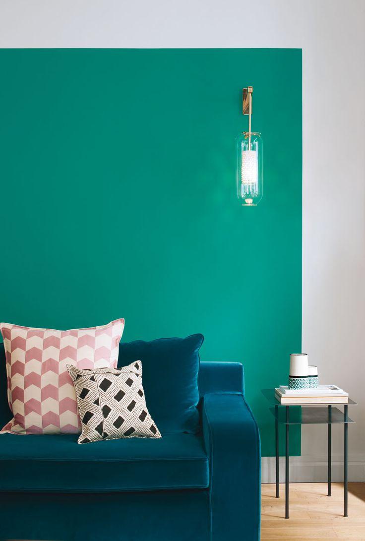 Les 25 meilleures id es concernant couleurs de paon sur - Peinture salon violet ...