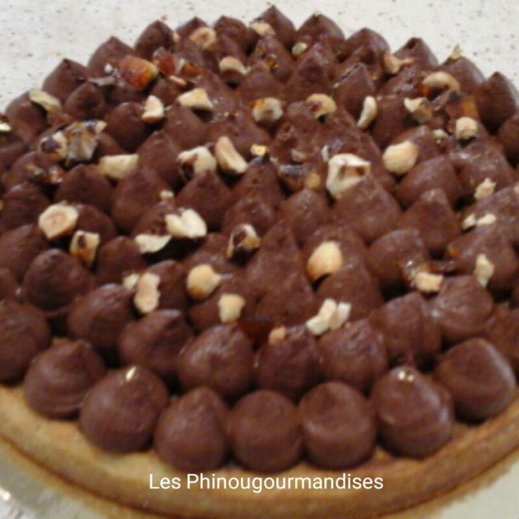 Tarte piémontaise ou tarte au chocolat noisettes